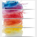 Abstract hand drawn watercolor background with Stock Images