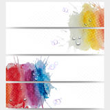 Abstract hand drawn watercolor background with Royalty Free Stock Images