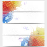 Abstract hand drawn watercolor background with Stock Photo