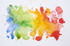 Abstract hand drawn watercolor background, illustration. Colorful texture with copy space. royalty free stock photography