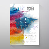 Abstract hand drawn watercolor background with Stock Photos