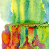 Abstract hand drawn watercolor background. Spring painting colorful texture. Stock Image