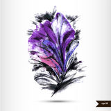 Abstract hand drawn watercolor background. Stock Photography