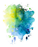 Abstract hand drawn watercolor background,vector illustration Stock Image