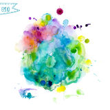 Abstract hand drawn watercolor background,vector illustration Royalty Free Stock Image