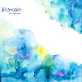Abstract hand drawn watercolor background,vector illustration Royalty Free Stock Photography