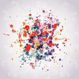 Abstract hand drawn watercolor background,vector illustration, s Royalty Free Stock Images
