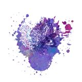 Abstract hand drawn watercolor background Stock Images