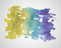 Abstract hand drawn watercolor background. Vector  Royalty Free Stock Photo