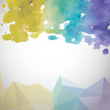 Abstract hand drawn watercolor background. Vector  Royalty Free Stock Images