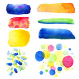 Abstract hand drawn watercolor blots background. Vector illustration.beautiful colorful watercolor circles Royalty Free Stock Photography