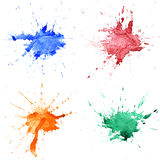 Abstract hand drawn watercolor drops Royalty Free Stock Image