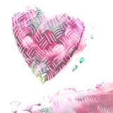 Abstract hand drawn. Watercolor heart. Abstract watercolor painted heart. Love background. Valentine day design Stock Images