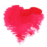 Abstract  hand drawn watercolor heart Royalty Free Stock Images