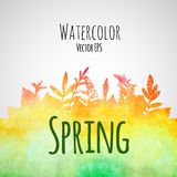 Abstract hand drawn watercolor texture background Stock Photos