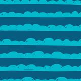 Abstract hand-drawn wave patterns. Royalty Free Stock Images