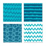 Abstract hand-drawn wave patterns. Royalty Free Stock Photo