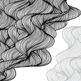 Abstract hand drawn waves background Stock Image