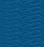 Abstract hand drawn waves pattern. Abstract seamless blue hand drawn waves pattern Royalty Free Stock Photo