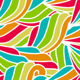 Abstract hand-drawn waves pattern, seamless floral vector backgr. Ound Stock Photography