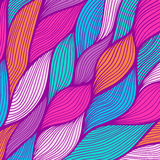 Abstract hand-drawn waves texture, wavy background. Colorful wa Stock Photo