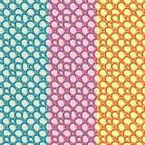 Abstract Hand getrokken Etnisch patroon Vlak vectorornament stock illustratie