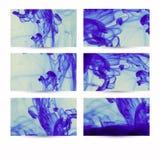 Abstract hand getrokken kaartenontwerp. Samenstelling voor plakboek elem Stock Fotografie