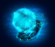 Abstract hand globe Stock Photos
