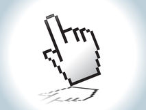 Abstract hand icon Stock Image