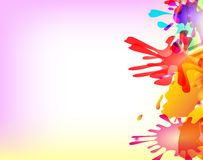 Abstract hand made watercolor splashes. EPS10. Vector Royalty Free Stock Images