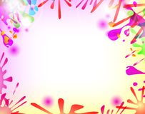 Abstract hand made watercolor splashes. EPS10. Vector Royalty Free Stock Photography