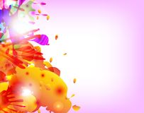 Abstract hand made watercolor splashes. EPS10. Vector Stock Photo
