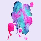 Abstract hand paint watercolor background , illustration, stain watercolors colors on wet paper. ?an be used for wallpaper, pattern fills, web page background Royalty Free Illustration