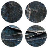 Abstract hand painted acrylic circle texture Royalty Free Stock Image