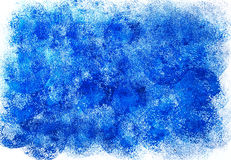 Abstract hand painted background. Abstract hand painted acrylic blue background Royalty Free Stock Image