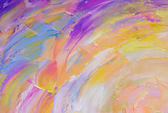 Abstract hand painted background on canvas royalty free stock photo