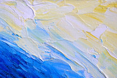Abstract hand painted background on canvas Royalty Free Stock Photos