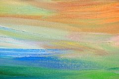 Abstract hand painted background on canvas Royalty Free Stock Images