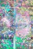 Abstract artistic background with splashes of paint. Abstract, hand painted colorful wooden background stock photos