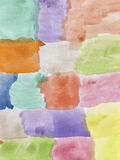 Abstract hand painted watercolor Stock Image