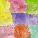 Abstract hand painted watercolor Stock Images