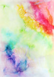 Abstract hand painted watercolor background. Abstract hand painted background. Watercolor painting. Decorative colorful texture Royalty Free Stock Photo