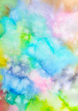 Abstract hand painted watercolor background. Abstract hand painted background. Watercolor painting. Decorative colorful texture Stock Photography