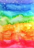 Abstract hand painted watercolor background. Abstract hand painted background. Watercolor painting in rainbow colors. Decorative colorful texture Stock Photography