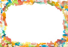 Abstract hand painted watercolor frame Royalty Free Stock Images