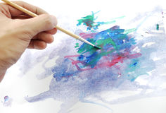 Abstract hand painting Royalty Free Stock Photography