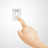 Abstract Hand Pressing Switch. Vector made in illustrator Stock Photo