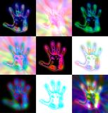 Abstract Hand Prints Royalty Free Stock Photo
