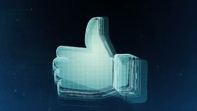 Abstract hand sign with blue background. 3D rendering. Abstract hand sign with blue background Stock Images