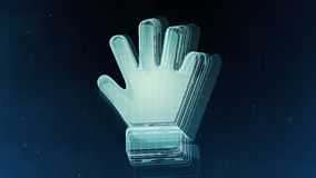 Abstract hand sign with blue background. 3D rendering. Abstract hand sign with blue background Royalty Free Stock Image